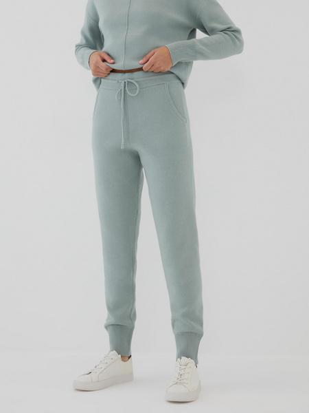 Трикотажные брюки с завязками