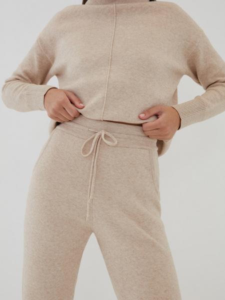 Трикотажные брюки с завязками - фото 2