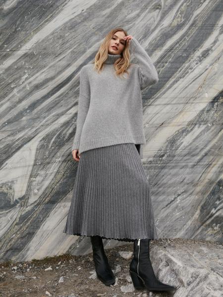 Плиссированная юбка на резинке - фото 1