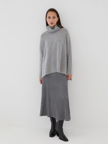 Плиссированная юбка на резинке - фото 3