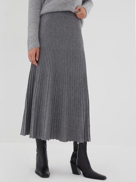 Плиссированная юбка на резинке - фото 4