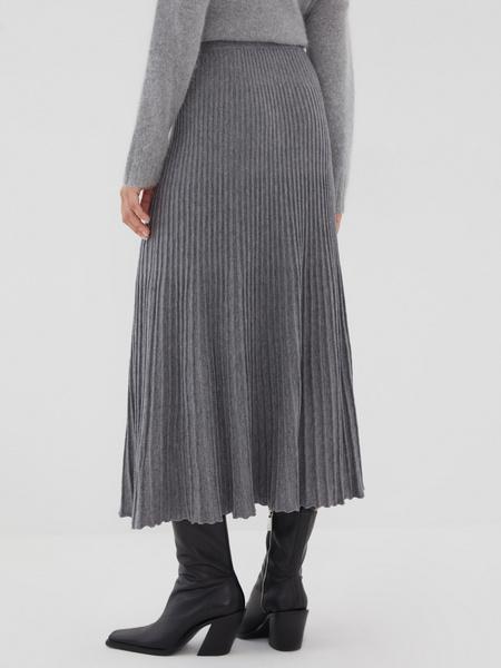 Плиссированная юбка на резинке - фото 5