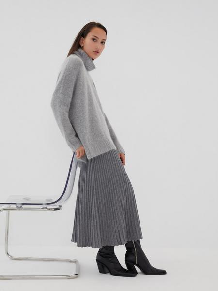 Плиссированная юбка на резинке - фото 6