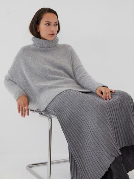 Плиссированная юбка на резинке - фото 7