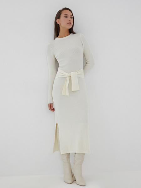 Облегающее платье в рубчик - фото 2