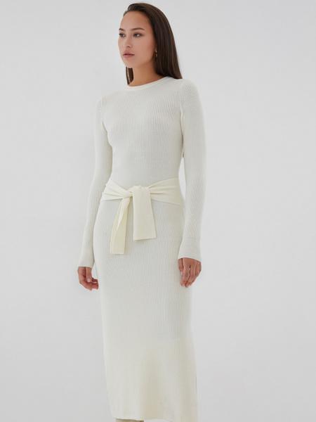 Облегающее платье в рубчик - фото 3