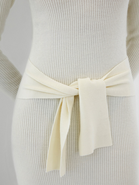 Облегающее платье в рубчик - фото 5