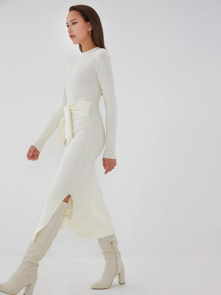 Облегающее платье в рубчик - фото 6