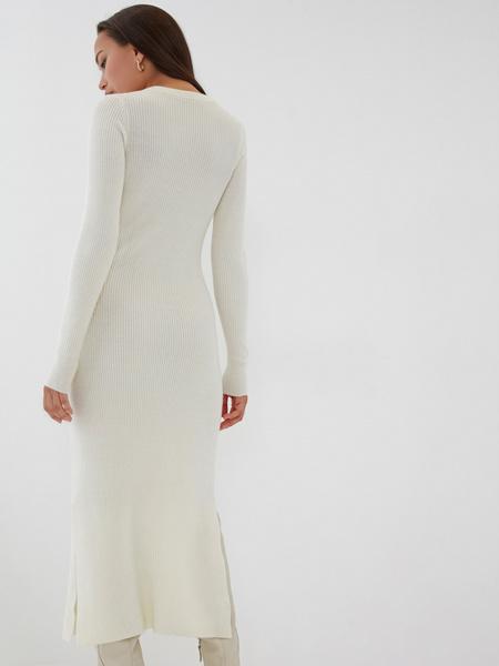 Облегающее платье в рубчик - фото 7