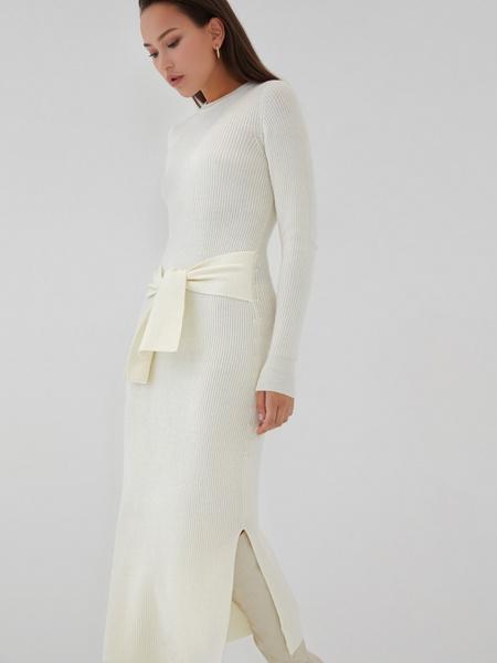 Облегающее платье в рубчик - фото 8