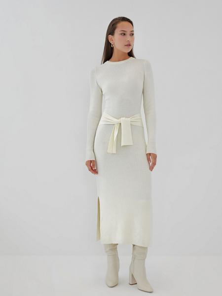Облегающее платье в рубчик - фото 9