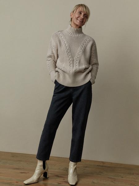 Вязаный свитер с шерстью - фото 1