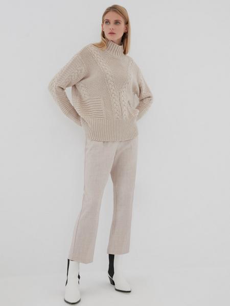 Вязаный свитер с шерстью - фото 2