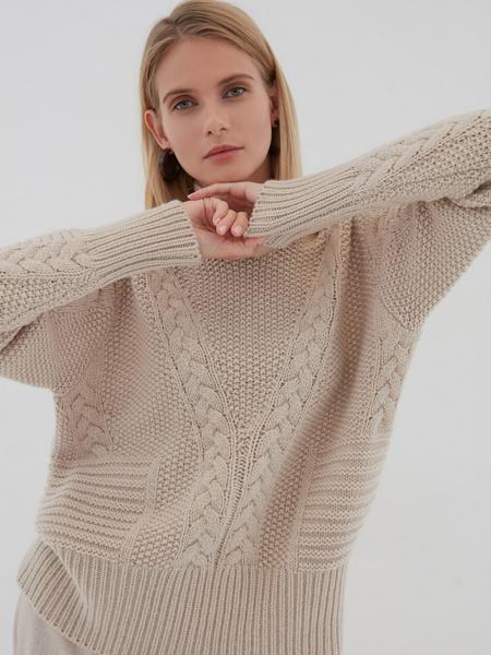 Вязаный свитер с шерстью - фото 3