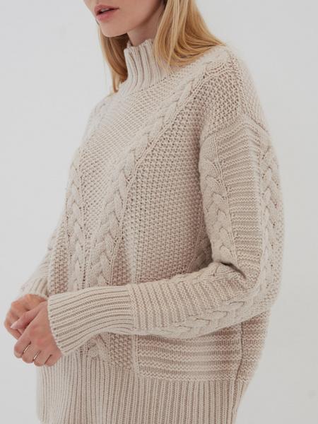 Вязаный свитер с шерстью - фото 4