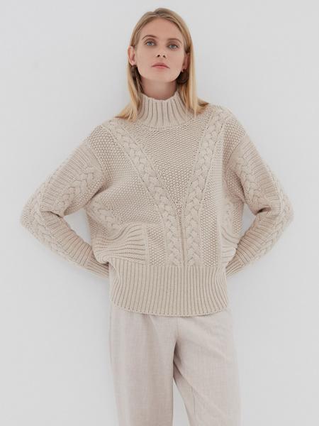 Вязаный свитер с шерстью - фото 5