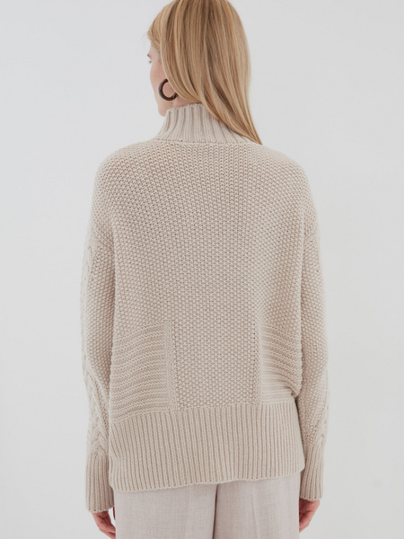 Вязаный свитер с шерстью - фото 6