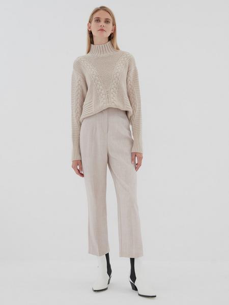Вязаный свитер с шерстью - фото 7