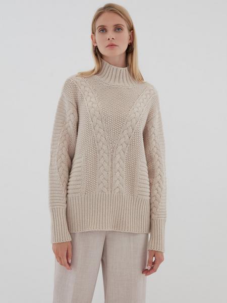 Вязаный свитер с шерстью - фото 8