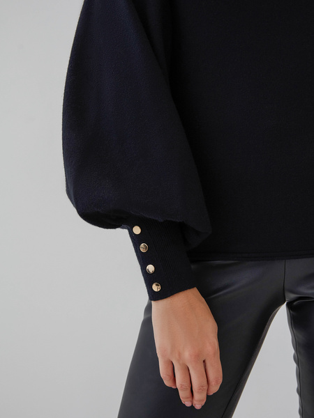 Джемпер с рукавами-фонариками - фото 4