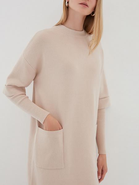 Платье с комбинированным рукавом - фото 2