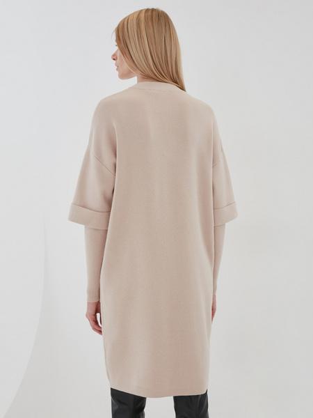 Платье с комбинированным рукавом - фото 3