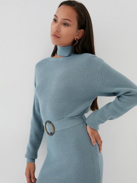 Платье с ассиметричным вырезом - фото 2