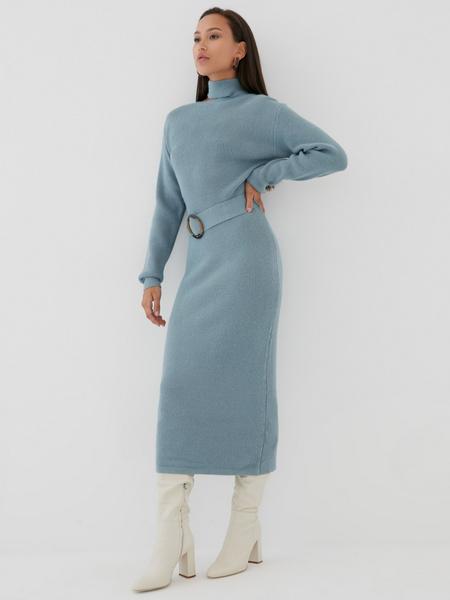 Платье с ассиметричным вырезом - фото 4