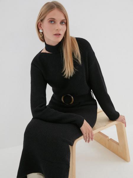 Платье с ассиметричным вырезом - фото 3