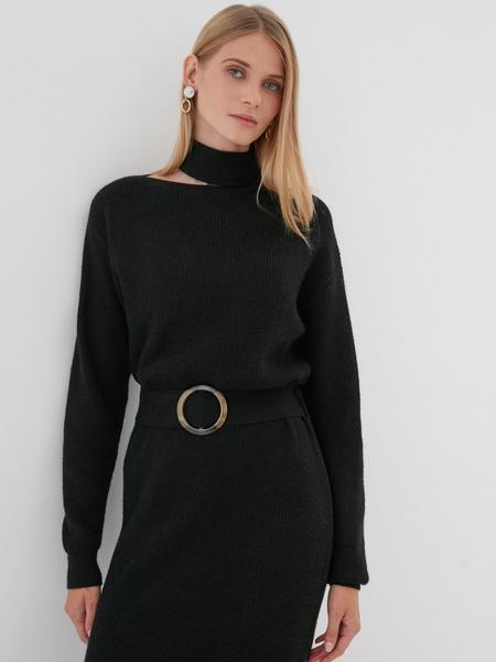 Платье с ассиметричным вырезом - фото 5