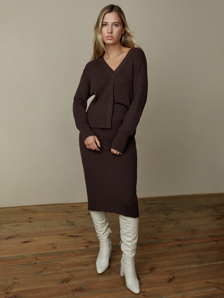 Облегающая трикотажная юбка - фото 1