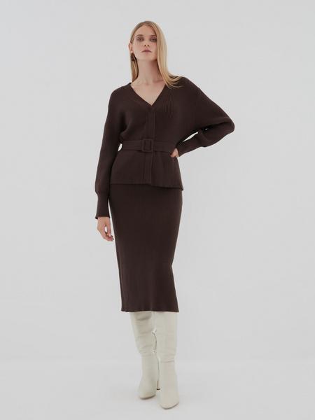 Облегающая трикотажная юбка - фото 5