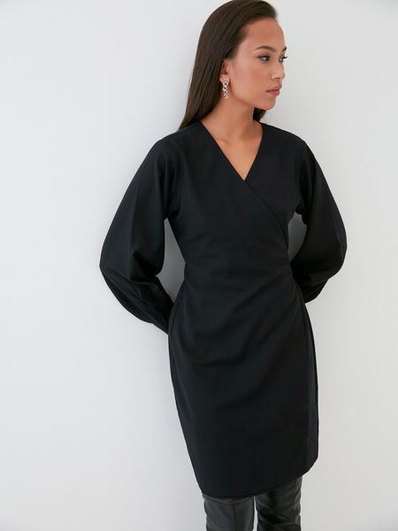 Платье со стяжкой на боку - фото 1