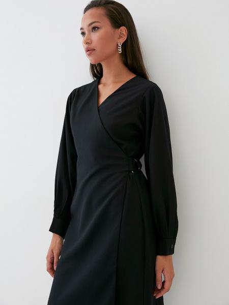 Платье со стяжкой на боку - фото 4