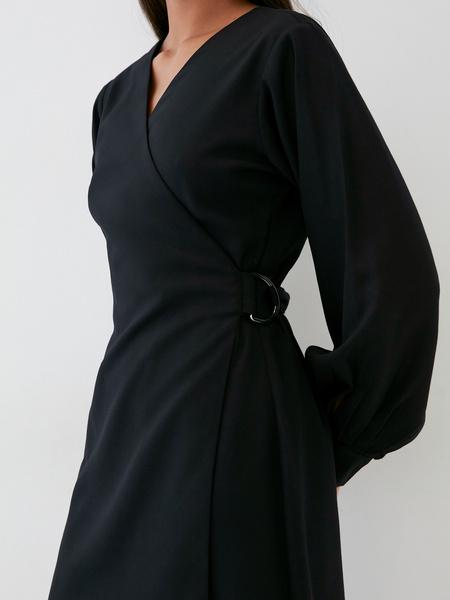 Платье со стяжкой на боку - фото 5