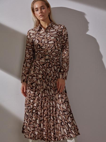 Платье с плиссированной юбкой - фото 1