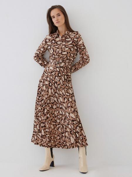 Платье с плиссированной юбкой - фото 3