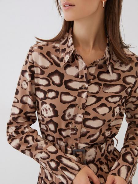Платье с плиссированной юбкой - фото 5