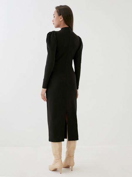 Платье с драпированными рукавами - фото 5