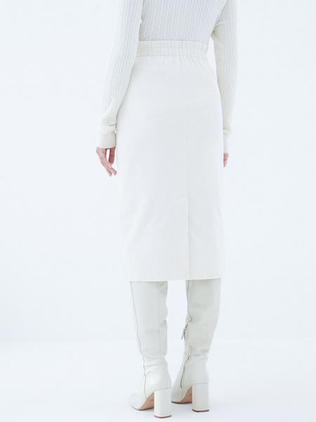 Вельветовая юбка на пуговицах - фото 5