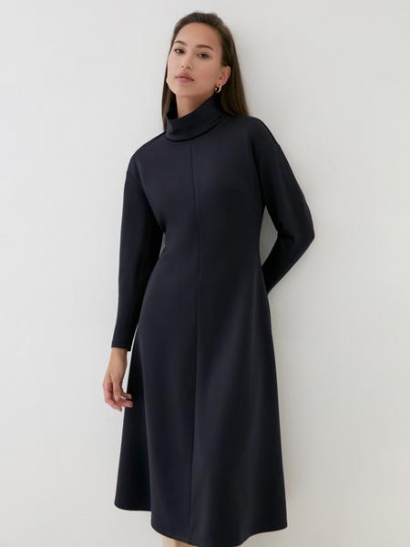 Платье-миди с закрытым горлом - фото 4