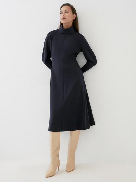 Платье-миди с закрытым горлом - фото 5