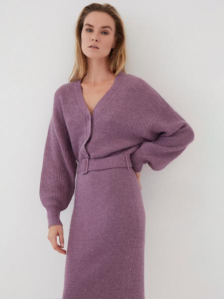 Платье с объемным верхом - фото 5