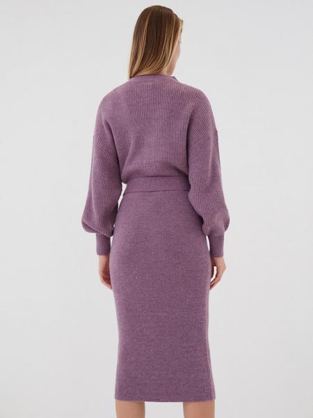 Платье с объемным верхом - фото 6