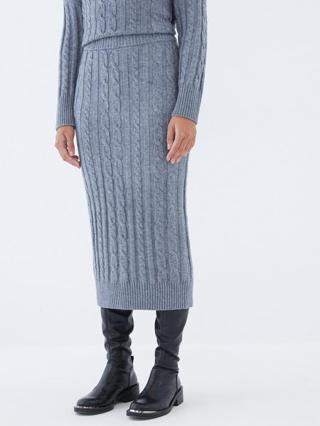 Вязаная юбка - фото 3