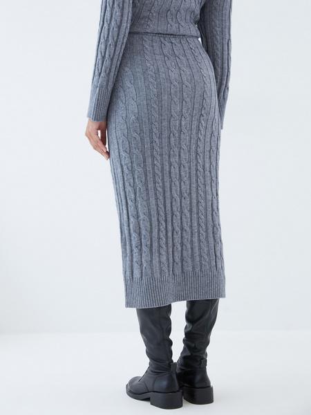 Вязаная юбка - фото 5