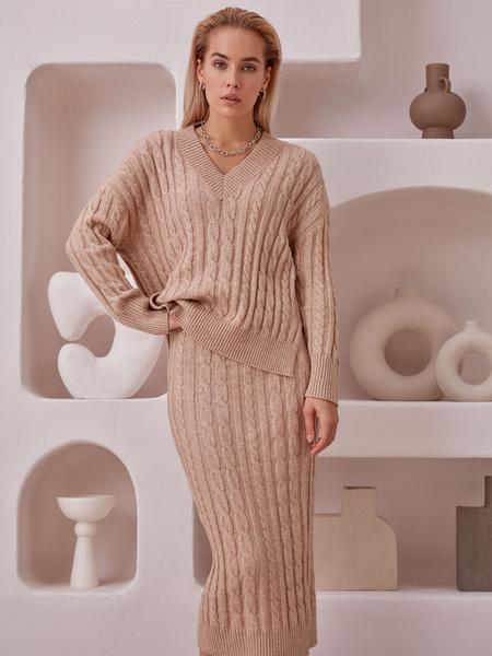 Вязаная юбка - фото 1