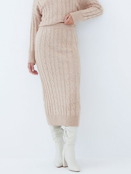 Вязаная юбка - фото 4
