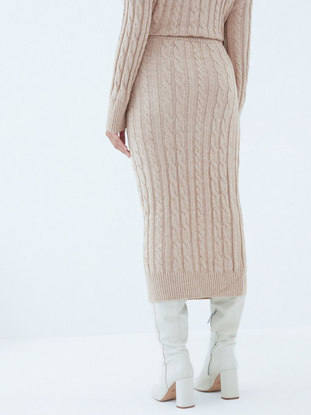 Вязаная юбка - фото 6