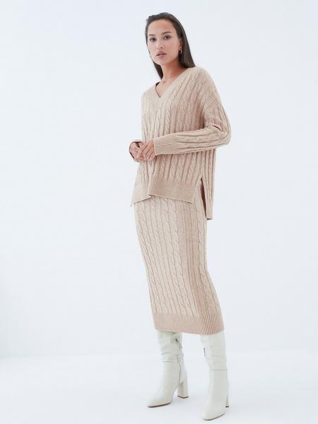 Вязаная юбка - фото 7